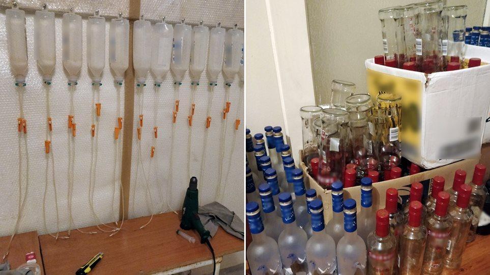 Θεσσαλονίκη - Εμφιάλωνε ποτά «μπόμπες» με δοχεία από... ορούς! 3b8ff1a20cf